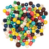 Assorted Color 4 oz Creativity Street Plastic Carved Decorated Exotic Bead